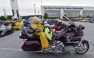 Photo of Wingding bikes in front of the US Space & Rocket Center. Photo Credit - AL.com