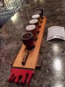 Rocket shaped flight of beer