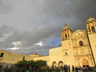 Oaxaca Church, Rainbow